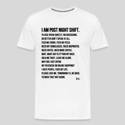 Night Shift Poem - Men's Premium T-Shirt