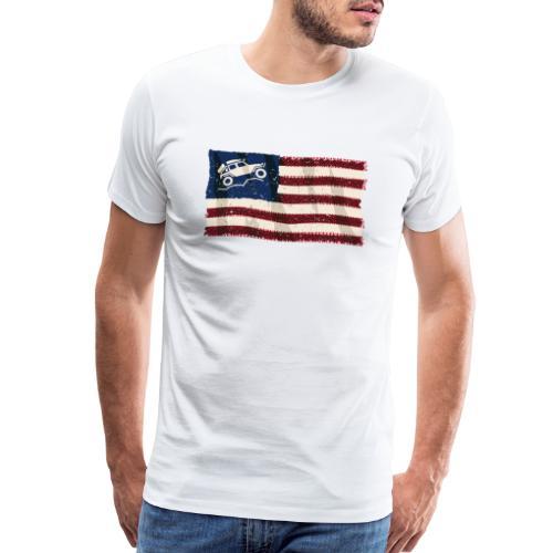 American Off Road 4x4 Overland Flag - Men's Premium T-Shirt