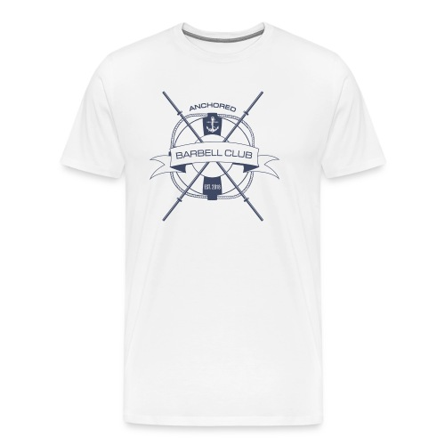 Anchored Barbell Club Blue - Men's Premium T-Shirt