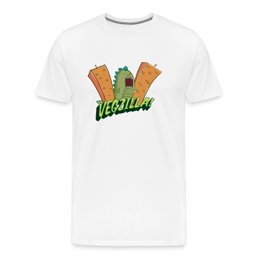 Vegzilla Logo Orange - Men's Premium T-Shirt