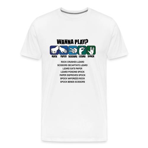 rock paper scissors lizard spock shirt - Men's Premium T-Shirt