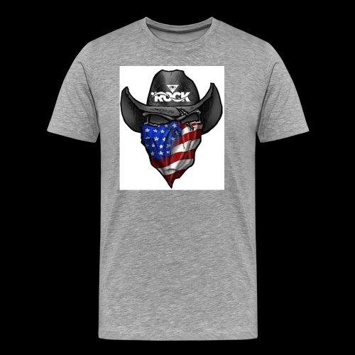 Eye rock cowboy Design - Men's Premium T-Shirt