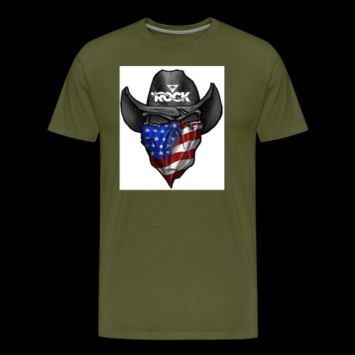 Eye rock cowboy Design - Men's Premium T-Shirt