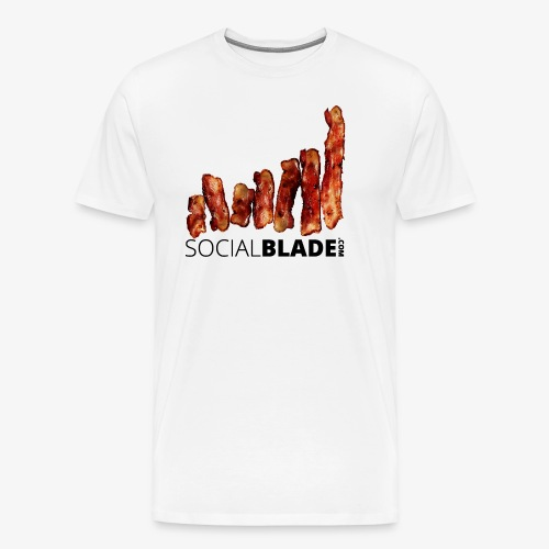 Bacon a la Social Blade - Men's Premium T-Shirt
