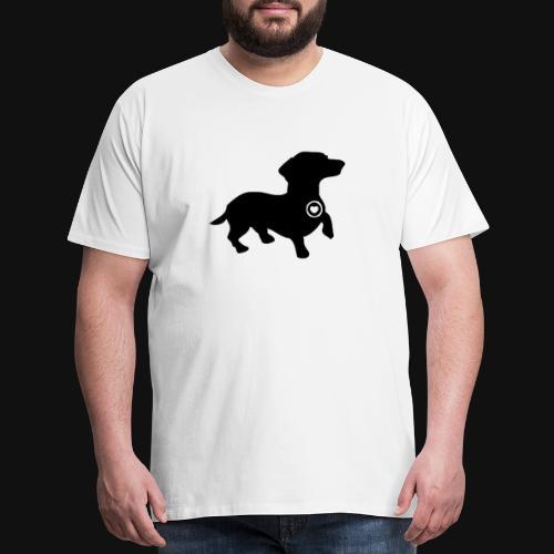 Dachshund love silhouette black - Men's Premium T-Shirt