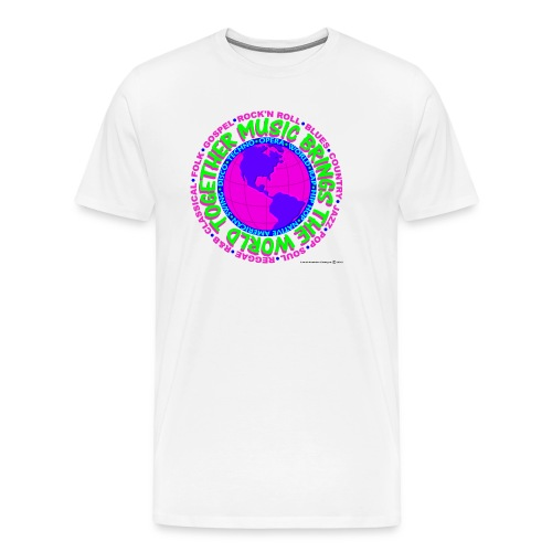 Music brings the world together 2 - Men's Premium T-Shirt