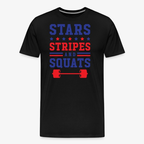 Stars, Stripes And Squats - Men's Premium T-Shirt