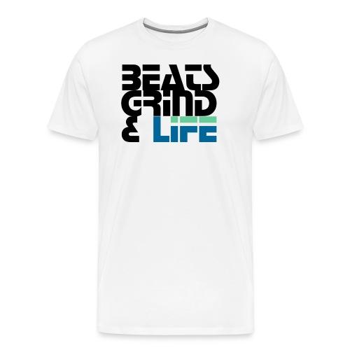 Beats Grind Life Logo 1 Shirt Design - Men's Premium T-Shirt