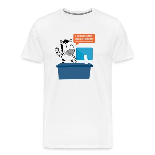 Living Rare, Living Stronger 2020 Virtual Zebra - Men's Premium T-Shirt