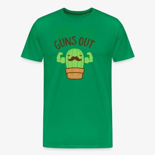 Sun's Out Guns Out Macho Cactus - Men's Premium T-Shirt