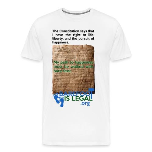 Constitution path to happiness - Men's Premium T-Shirt