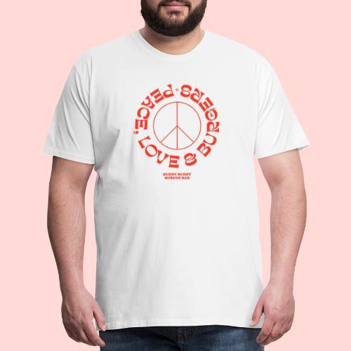 Peace, Love & Burgers - Men's Premium T-Shirt