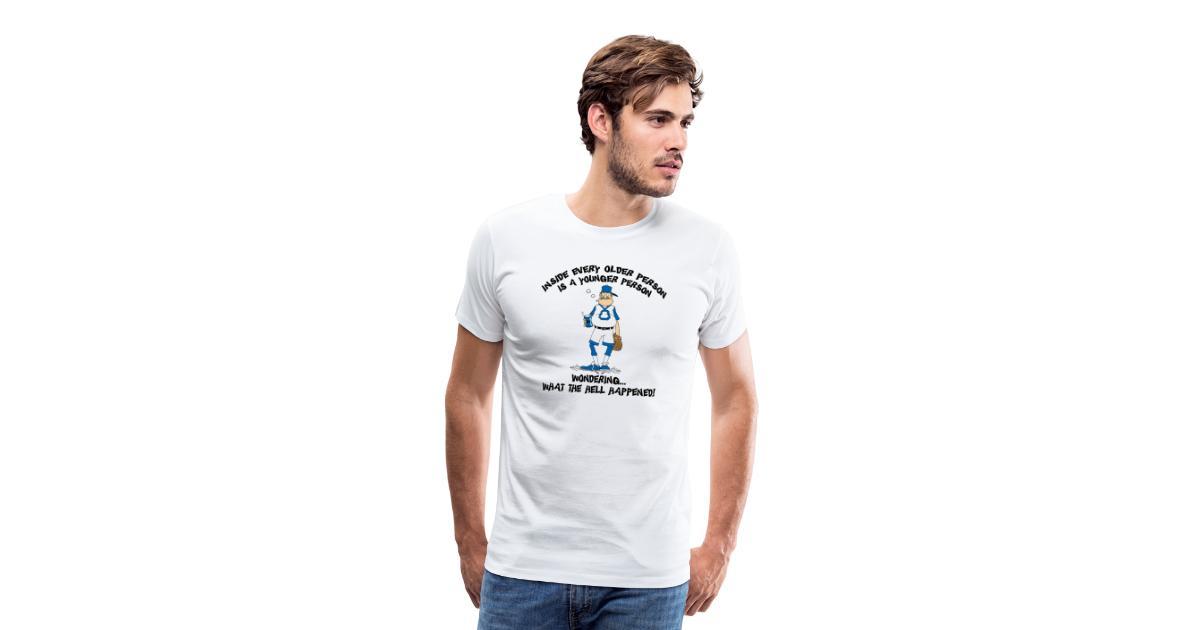 Funny Baseball Grandpa Mens Premium T Shirt Grandpas Designer T Shirts