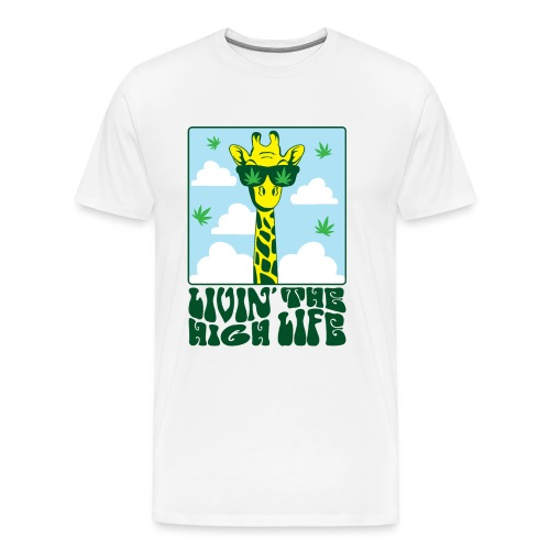Livin The High Life Giraffe - Men's Premium T-Shirt