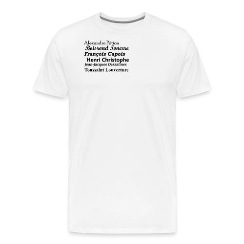 Héros d'haiti - Men's Premium T-Shirt