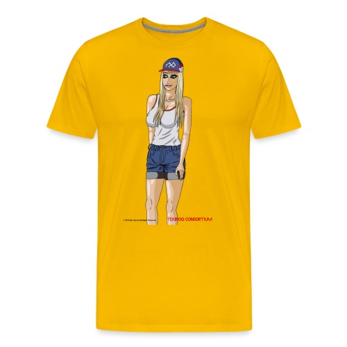Gina Character Design - Men's Premium T-Shirt