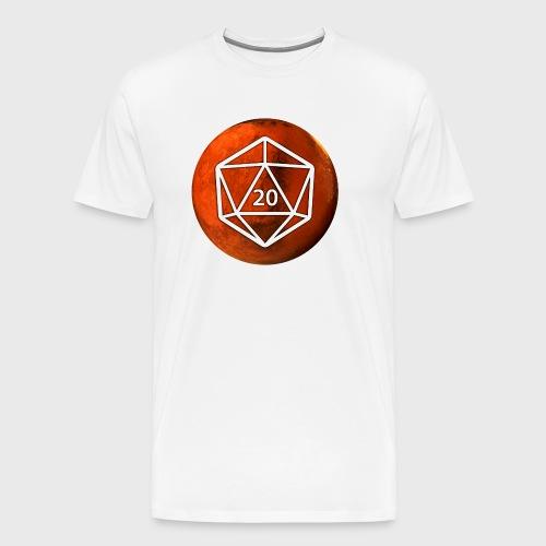 Mars d20 Astronomy Space - Men's Premium T-Shirt