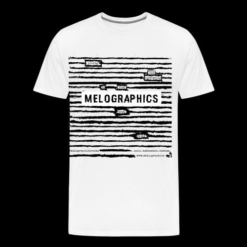 MELOGRAPHICS   Blackout Poem - Men's Premium T-Shirt