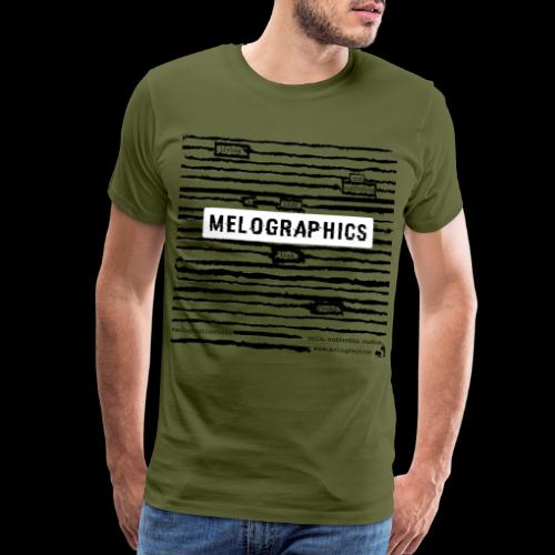 MELOGRAPHICS | Blackout Poem - Men's Premium T-Shirt