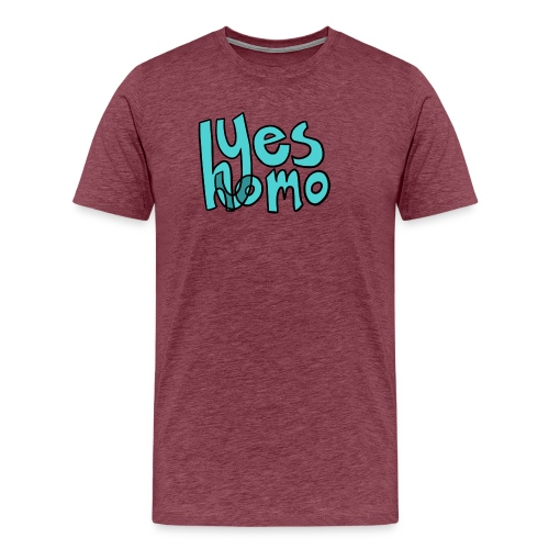 Yes Homo (Solid) - Men's Premium T-Shirt