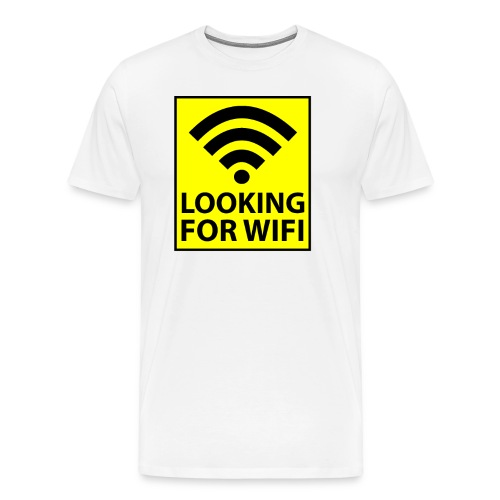 Looking For Wifi - Men's Premium T-Shirt