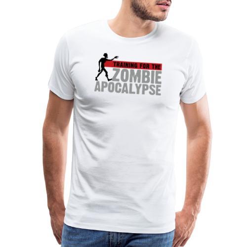 Zombie Apocalypse Gym Motivation - Men's Premium T-Shirt