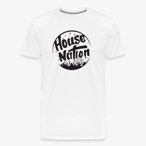 house nation black png - Men's Premium T-Shirt