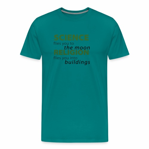 Science, Fly me to the Moon - Men's Premium T-Shirt
