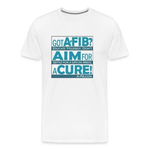 aim for a cure don t settle blue - Men's Premium T-Shirt