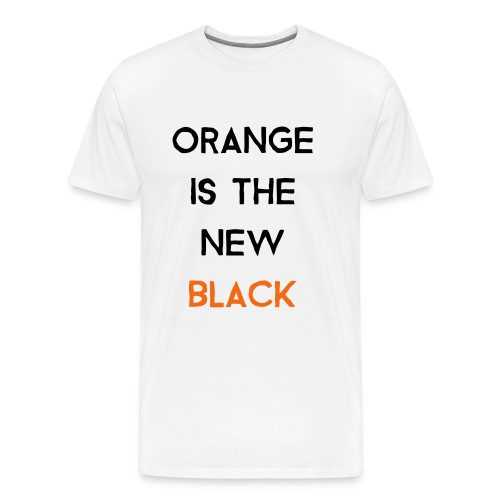 (orange2) - Men's Premium T-Shirt