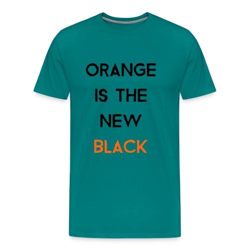 (orange2) - Men's Premium T-Shirt
