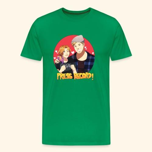 Press Record in Love - Men's Premium T-Shirt