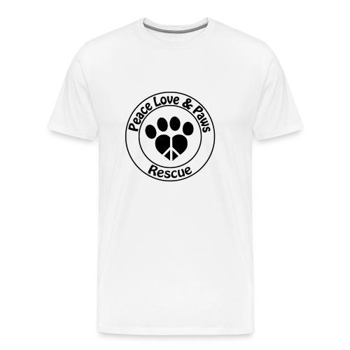 Peace Love & Paws Rescue Black Logo - Men's Premium T-Shirt