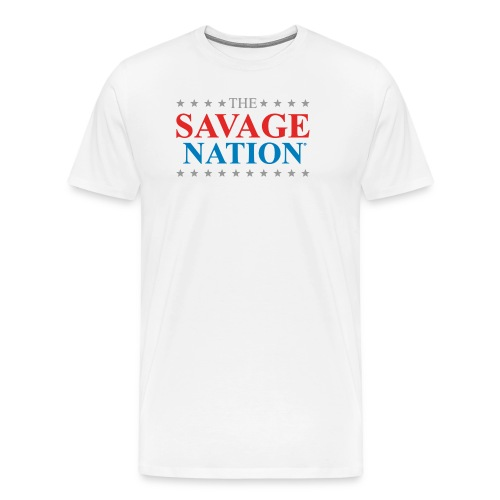 The Savage Nation Logo sch - Men's Premium T-Shirt
