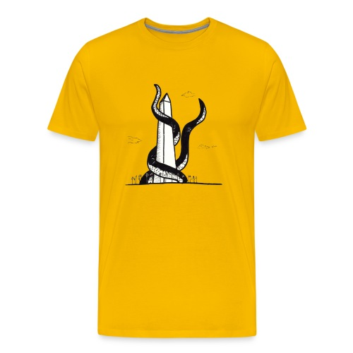 Tentacles on the Washington Monument - Men's Premium T-Shirt