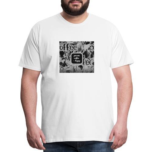 You and Me Coffee Happy T-Shirt - Men's Premium T-Shirt