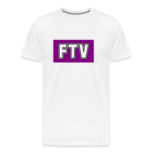 Purple FTV Logo Design - Men's Premium T-Shirt