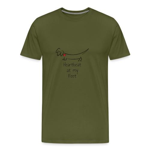Heartbeat at my Feet - Men's Premium T-Shirt