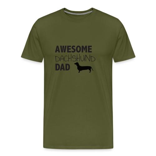 Awesome Dachshund Dad - Men's Premium T-Shirt