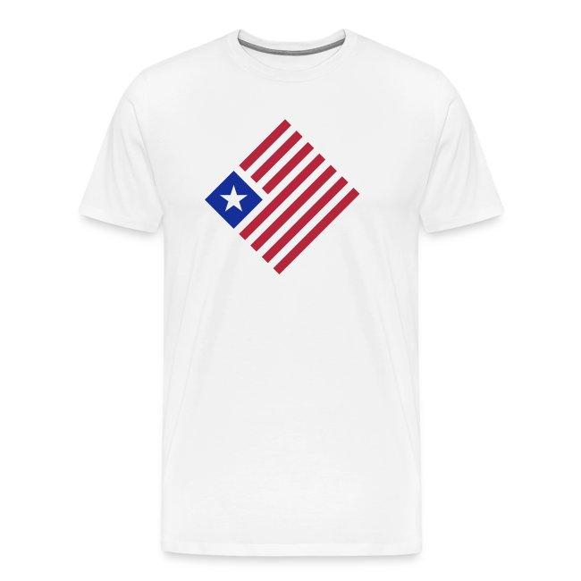 USA Flag Shield American America Stars and Stripes Patriotic New Men/'s T-shirt