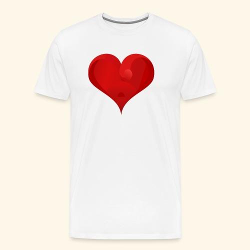 Valentine heart - Men's Premium T-Shirt