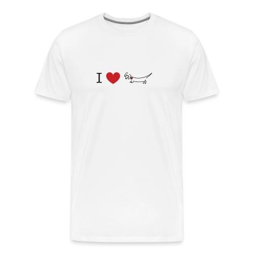 I love Dachshund - Men's Premium T-Shirt