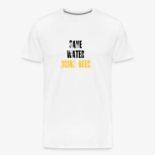 Save water drink beer - Men's Premium T-Shirt