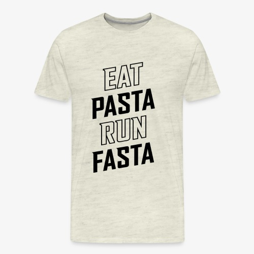 Eat Pasta Run Fasta v2 - Men's Premium T-Shirt