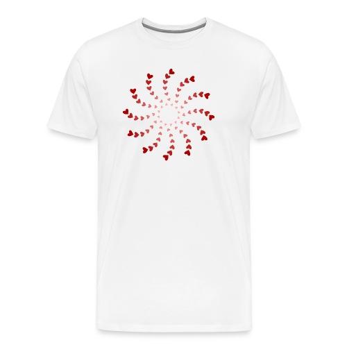 heart spiral - Men's Premium T-Shirt