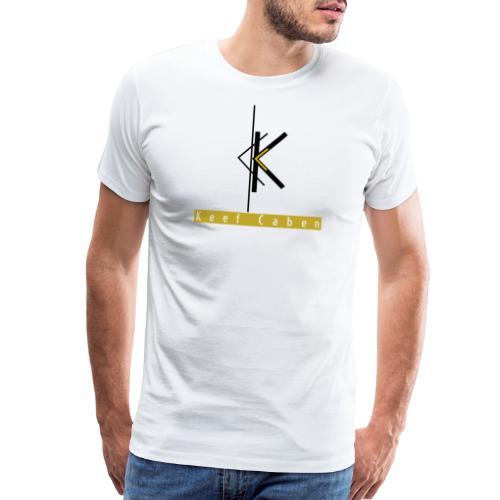 Keef Caben Logo plus name - Men's Premium T-Shirt