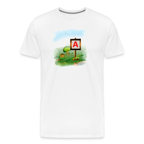 Super nature kids love letter A banner - Men's Premium T-Shirt