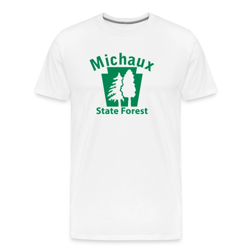 Michaux State Forest Keystone (w/trees) - Men's Premium T-Shirt