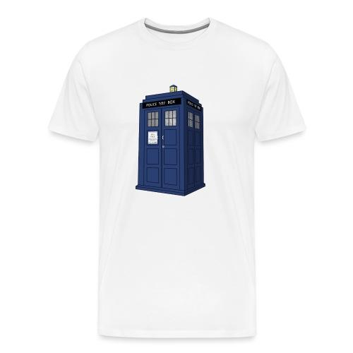 blue call box - Men's Premium T-Shirt