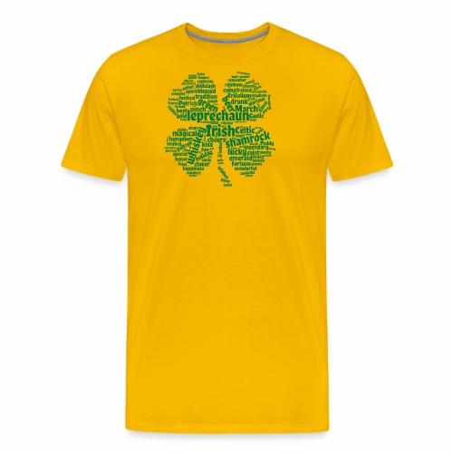 Shamrock Word Cloud - Men's Premium T-Shirt